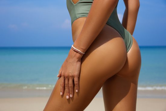 female lower body contours
