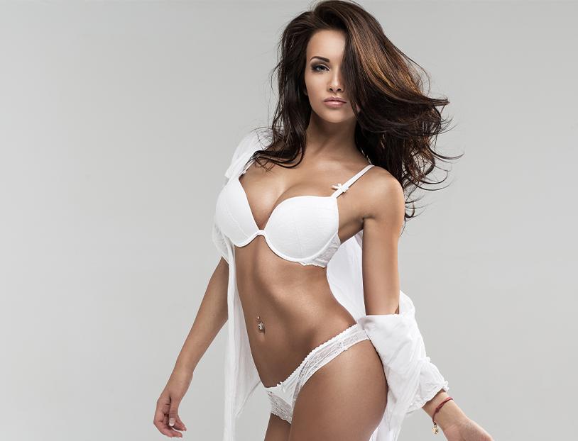 woman posing showing body contours